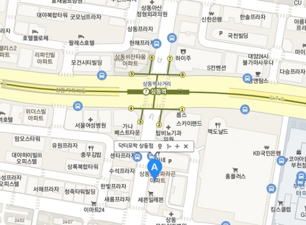 닥터모락(상동점)지도